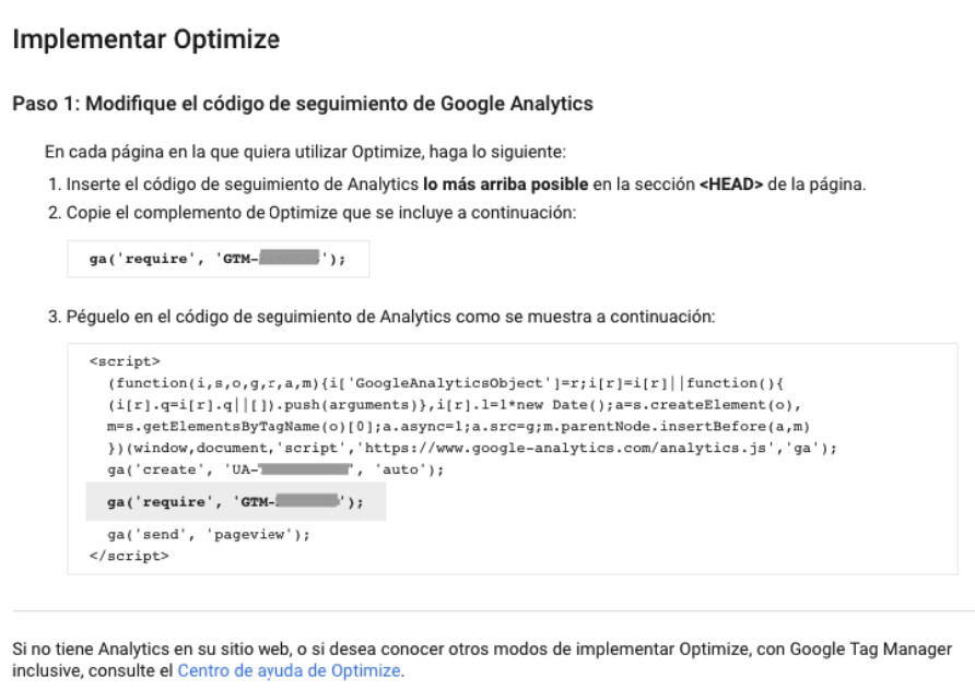 Como implementar Google Optimize