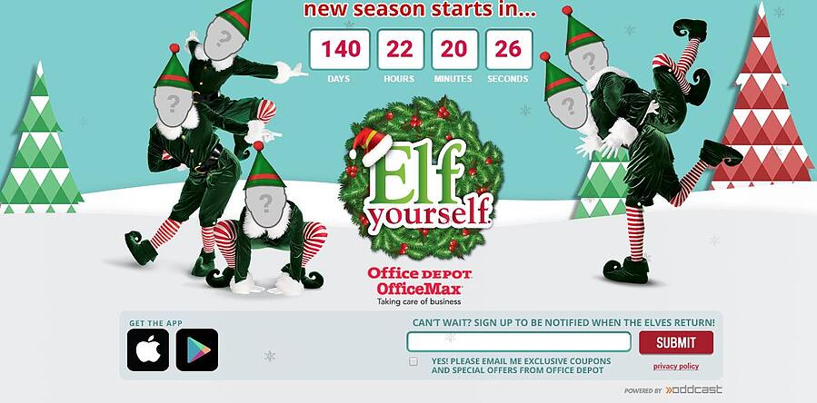 Microsite Elf Yourself