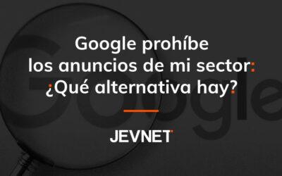 Google prohíbe los anuncios de mi sector